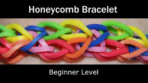 rainbow loom honeycomb bracelet youtube
