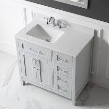 Ove Decors Bathroom Vanities Shop Ove Decors Tahoe Dove Gray Undermount Single Sink Bathroom