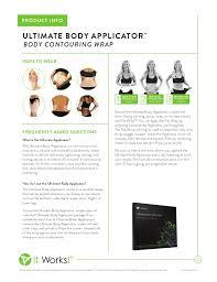 it works ultimate body applicator body wrap