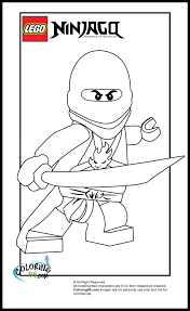 lego ninjago kai coloring pages team colors