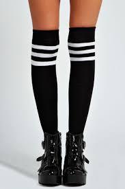 twisted dorothy twisted ladies knee high tube socks black twisted apparel