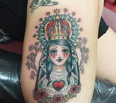 virgin mary tattoo by angelique houtkamp design of tattoosdesign