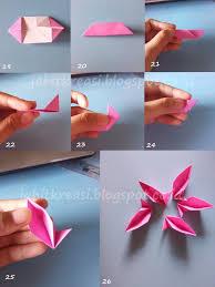 cara membuat origami bunga dari uang kertas origami bunga yang mudah