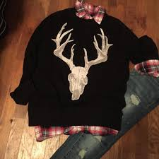 supply co sweaters 73 mossimo supply co sweaters mens m mossimo deer skull