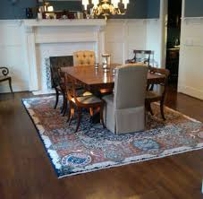 what size rug under dining table what size rug to use for your dining room