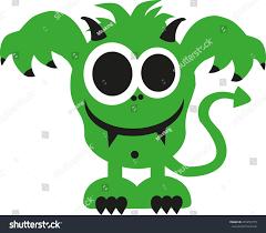 Ugly Green Green Ugly Monster Smiling Stock Vector 421295779 Shutterstock