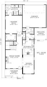 Colonial House Floor Plans by Josyln Narrow Lot Home Plan 055d 0310 House Plans And More