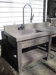 Concrete Vanity Concrete Vanity Round Bronze Colored Washbasin Multiple Wooden