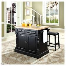 kitchen islands stools butcher block top kitchen island with stools crosley target