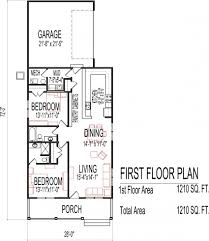 modern bungalow floor plans bedroom bath single story house flat