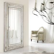 glamour jewelry armoire storage floor mirror