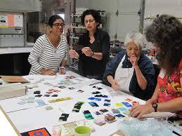 Seeking Bullseye The Color Lab Mixing Powders Bullseye Glass Co Santa Fe