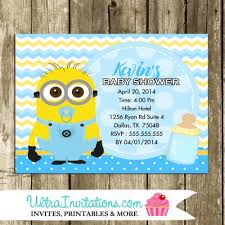 minion baby shower minion baby shower invitations photo invitations printable or