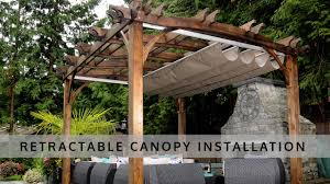 retractable pergola canopy installation olt youtube