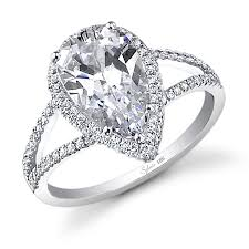 wedding rings pear shaped engagement rings with wedding bands