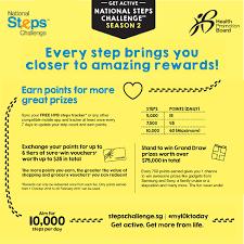 Challenge Steps National Steps Challenge Season 2 Health Promotion Board
