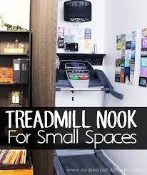 treadmill in living room how to make a treadmill nook in a small home hometalk