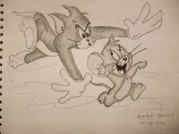 pencil sketches of tom and jerry drawing sketch library