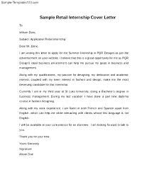 cover letter sle internship cover letter for retail internship 28 images cover letter