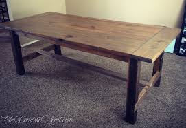 fancy x farmhouse table and benches plans at anawhitecom i build