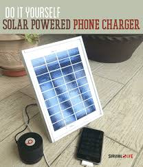 diy phone charger how to make a solar powered cellphone charger survival life