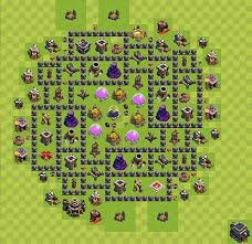 layout vila nivel 9 clash of clans clash of clans base plan layout for farming town hall level 9