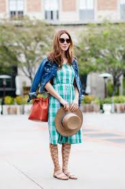 check gingham dress and gladiator sandals stylewich