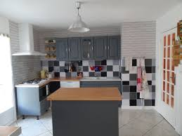 repeindre sa cuisine en gris renovation cuisine v33 avec awesome cuisine repeinte en gris v33