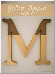 diy decor fails craft golden dipped initial the letter m home decor accesories it s