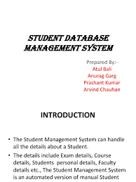 87005502 student database management system docshare tips