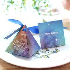 gift bags for weddings starry sky triangle portable paper jewelry wedding favors party