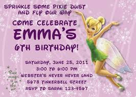 tinkerbell 1st birthday invitations invitation ideas