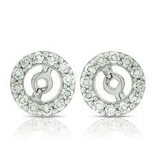 diamond earring jackets diamond earring jackets 14k ben bridge jeweler