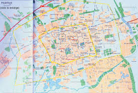 Map Of The Great Wall Of China by China Hohhot Map City Layout Attractions