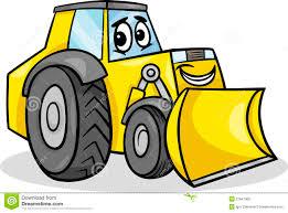 bulldozer character cartoon illustration royalty free stock image