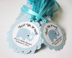 elephant favors personalized elephant favor tags for baby boy shower party in blue