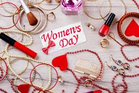 s day jewelry women s day card with jewelry stock image image of mood