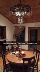 Homemade Outdoor Chandelier by Mason Jar Chandelier Southern Accents Pinterest Mason Jar