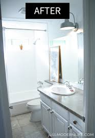 How To Paint Bathroom Petite Modern Life How To Paint Shower Tiles White Petite