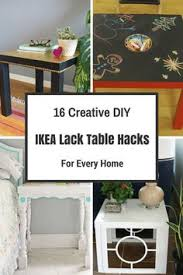 Lack Table Hack by Ikea Lack End Table Hack Painted Black Lack Tables White