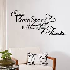 vinyl wall stickers bedroom love story is beautiful home quote wall decals bedroom