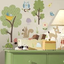 Woodland Animal Nursery Decor by Kids Room Forest Woodland Animals Wall Decals Stickers For Kids