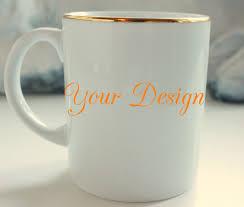gold custom tea coffee cup 8 oz personalized cup mug