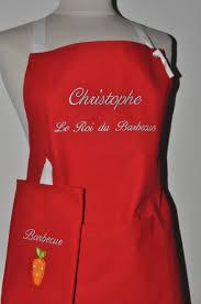 tablier de cuisine personnalisé box cadeau tablier de cuisine homme ou femme personnalisé brodé au