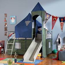 Bunk Bed With Slide And Tent Loft Bed With Slide And Tent Small Best Safety Loft Bed With