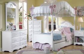 girl canopy bedroom sets furniture cottage 4 piece princess canopy bedroom set in white