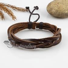 leather bracelet wristband images Adjustable woven leather bracelets for men and women wholesale jpg