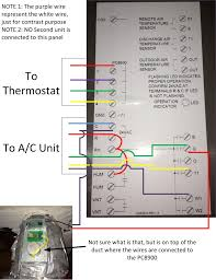 i have a honeywell pc8900 installed at home the thermostat for