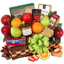vegan gift basket orchard s abundance fruit gift basket by gourmetgiftbaskets