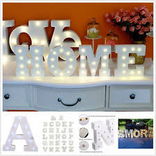 unbranded wooden letters home décor with led ebay